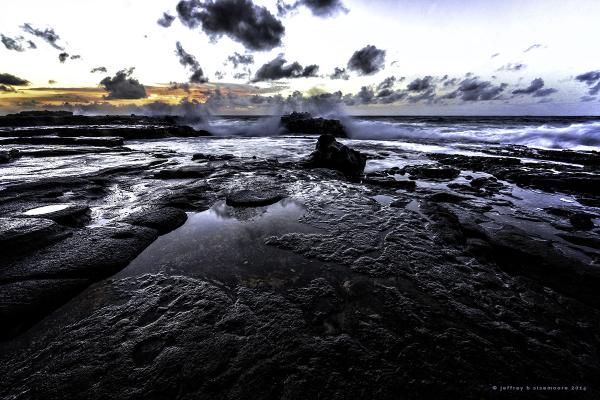 sunrise near sandy beach IV