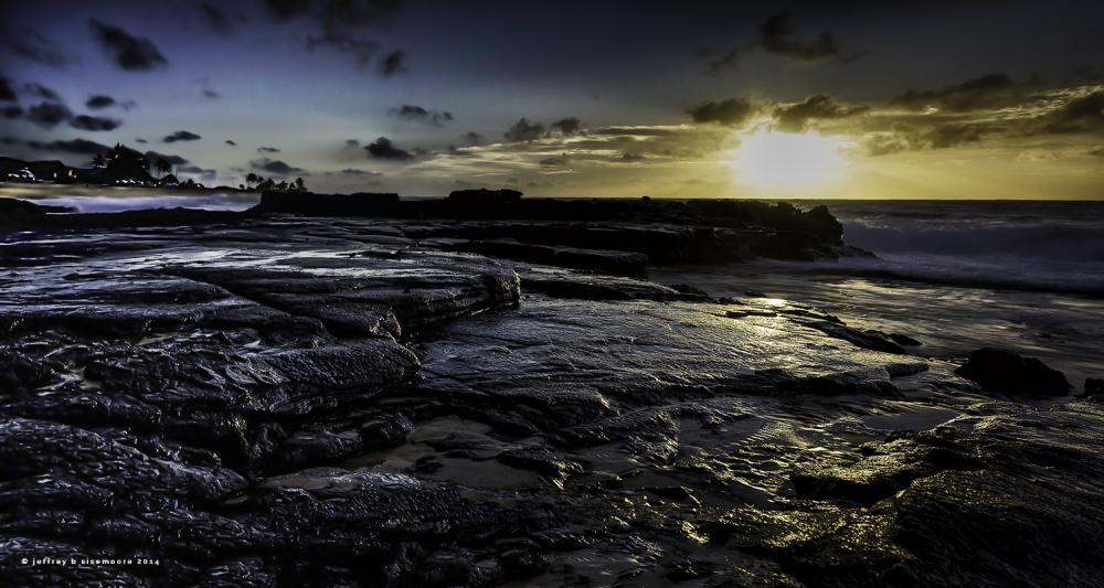 sunrise near sandy beach VIII