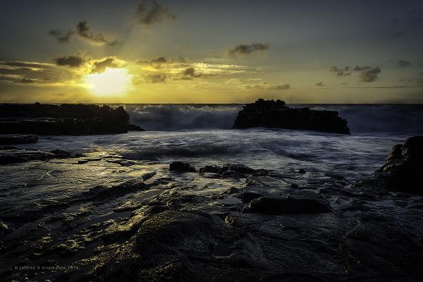 sunrise near sandy beach XI