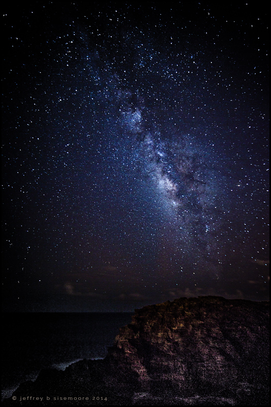 a coastal view of the milky way IV