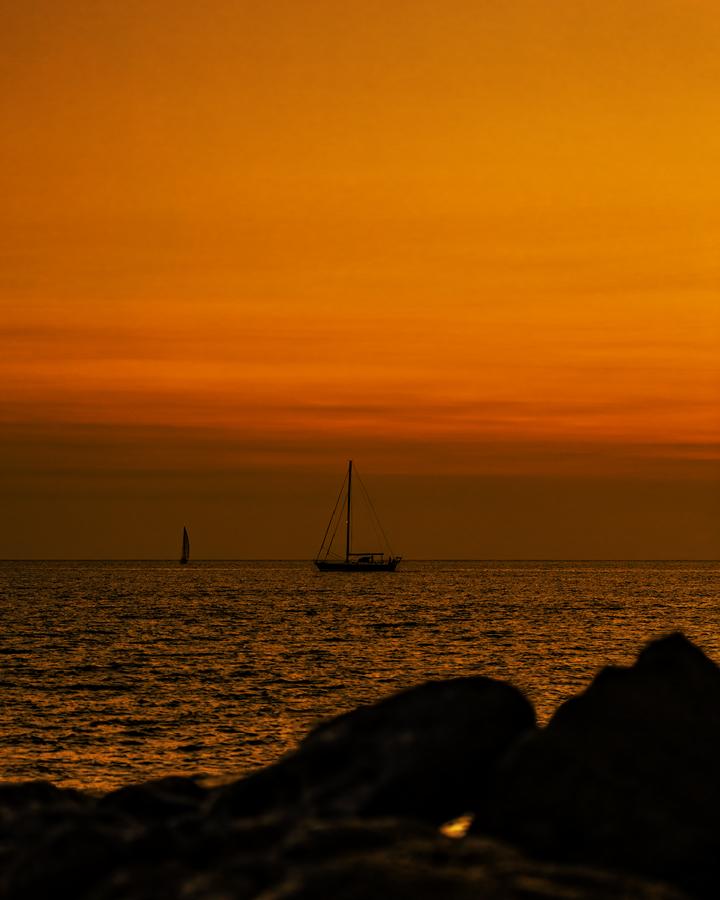 orange sky at night