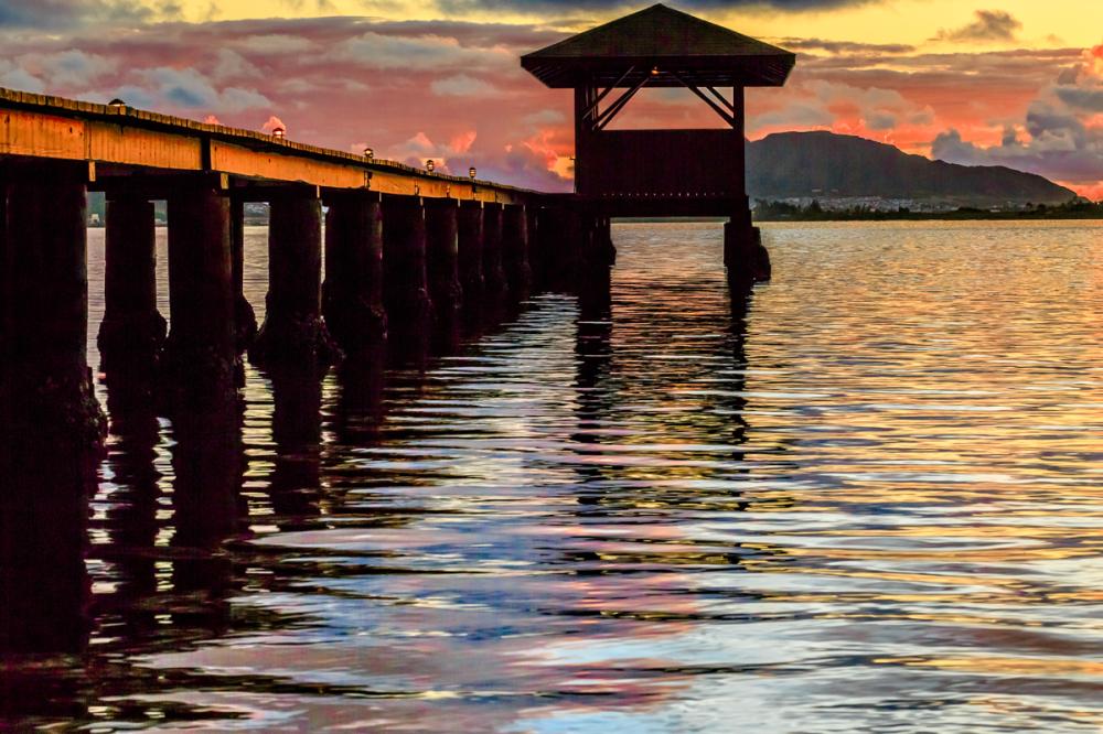pier on the windward side
