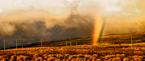 ...and then a rainbow touched down