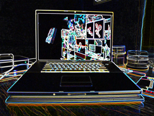 Glowing Apple Macbook Pro