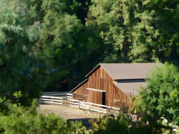 Lovely rurual Woodside barn