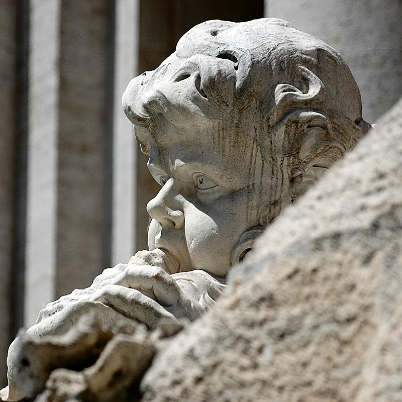 italy rome trevi fountain statue marble characters