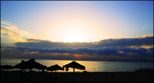 sunrise on alcudia beach