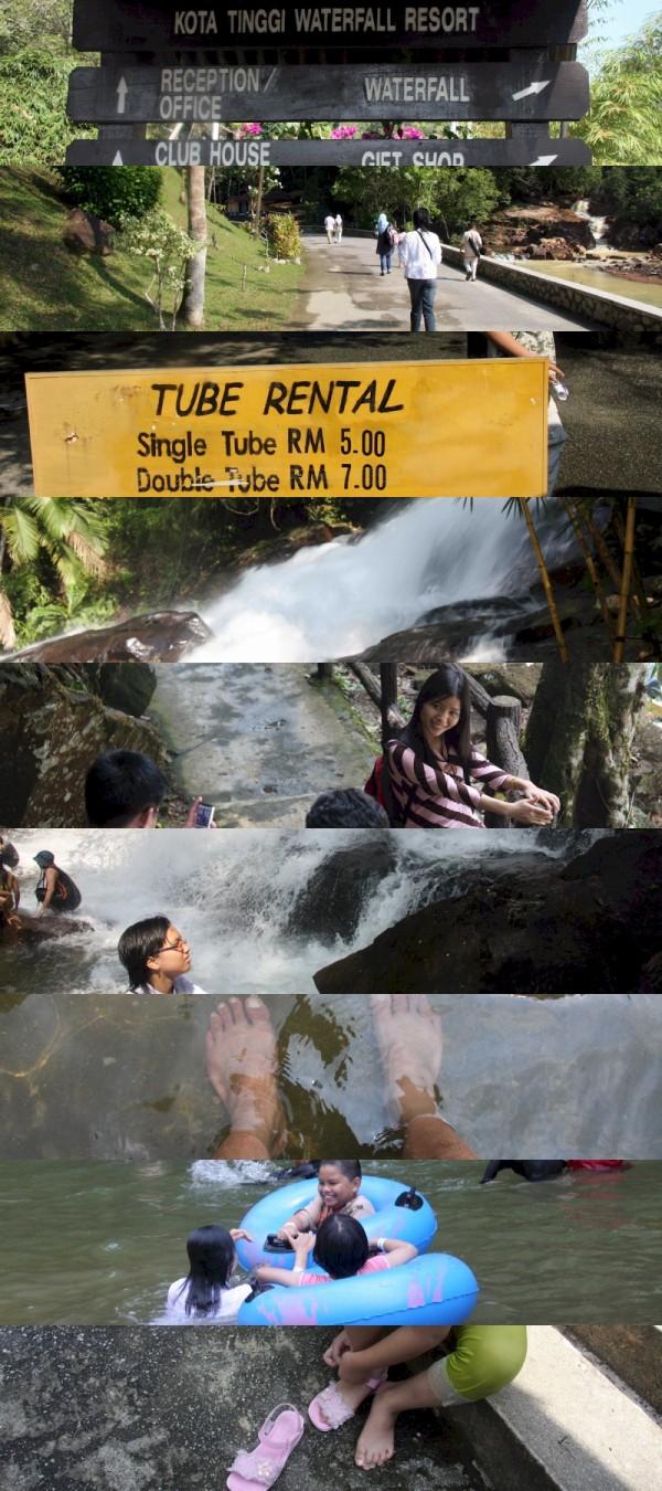 waterfall resort, kota tinggi