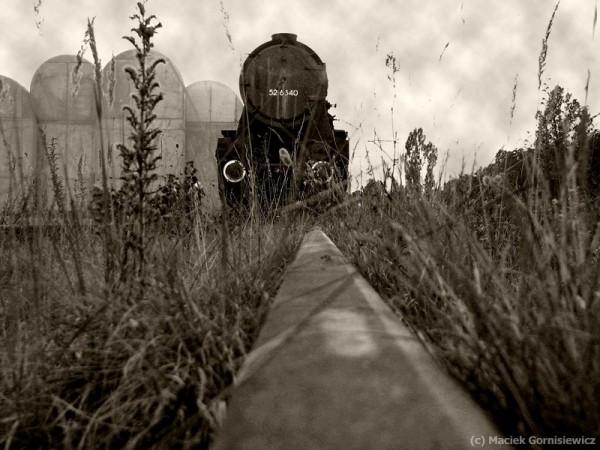 WWII German steam locomotive in Radegast