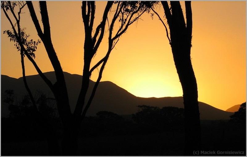 Sunset in Stirling Ranges