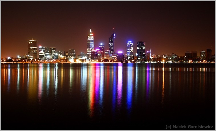City of Perth at night