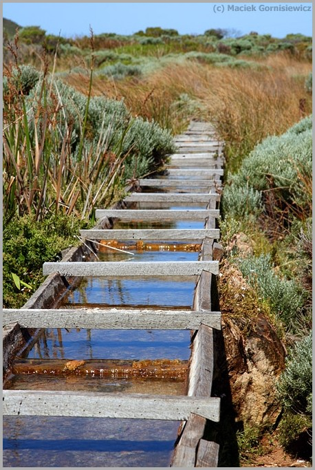 Wooden water flume at Cape Leeuwin