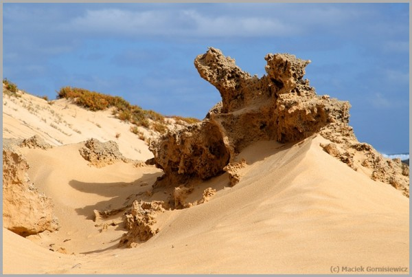 Eroded rock in Western Australia.