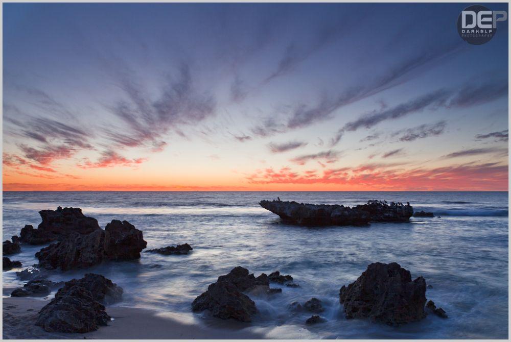 trigg beach sunset