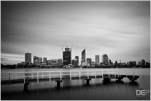 city of perth black and white