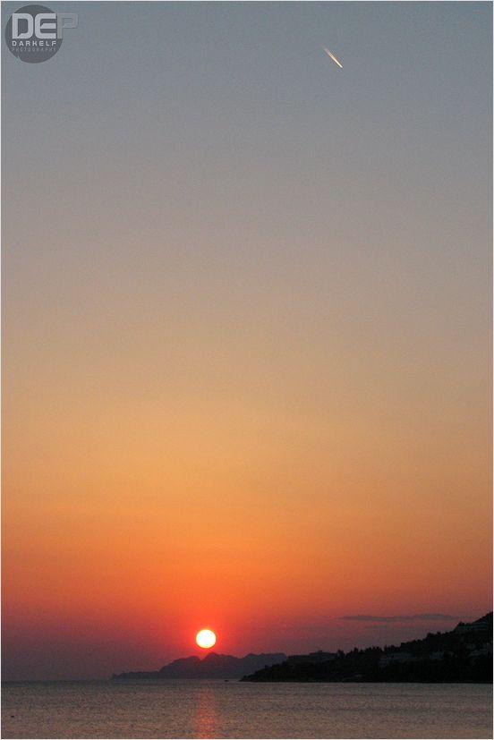 sunset in Loutraki