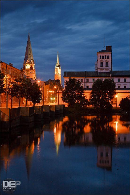 evening in Łódź