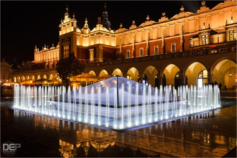 market square at night