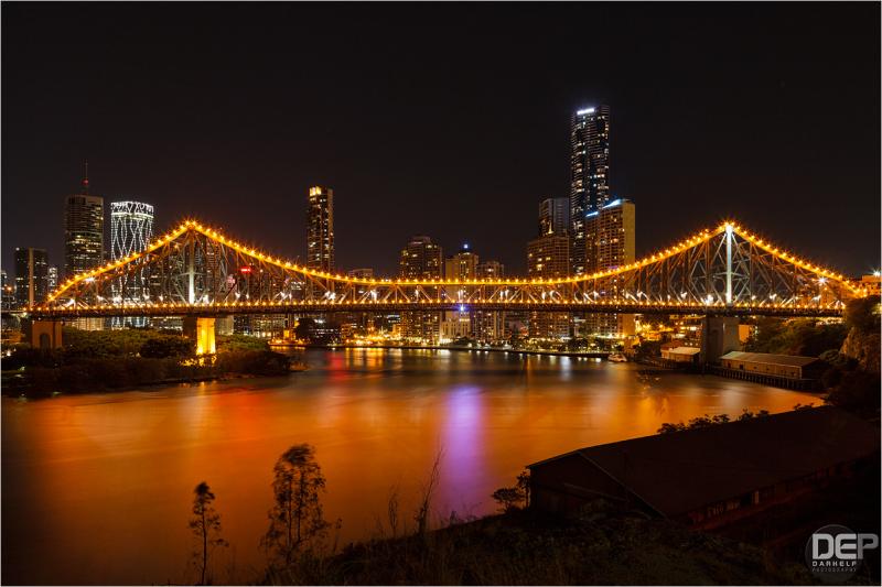 Brisbane in orange