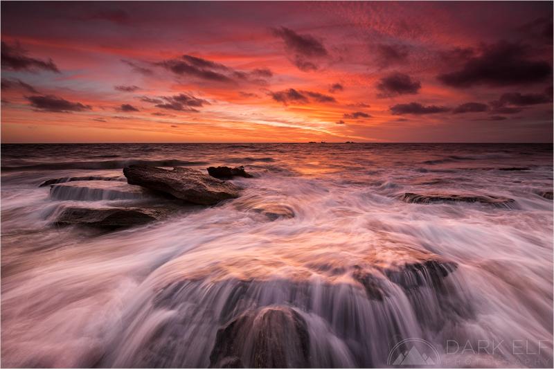 Deep Red Sunset