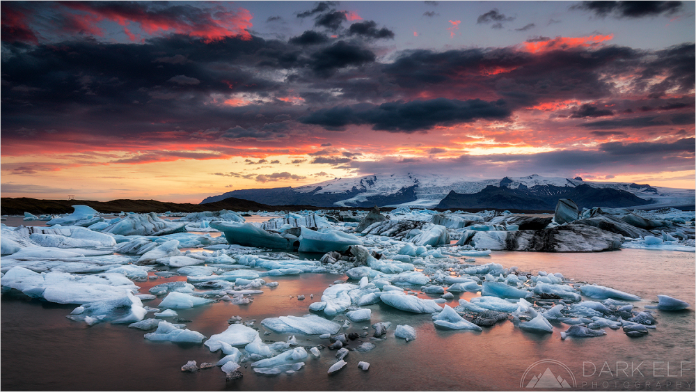 Sunset Over Jokulsarlon