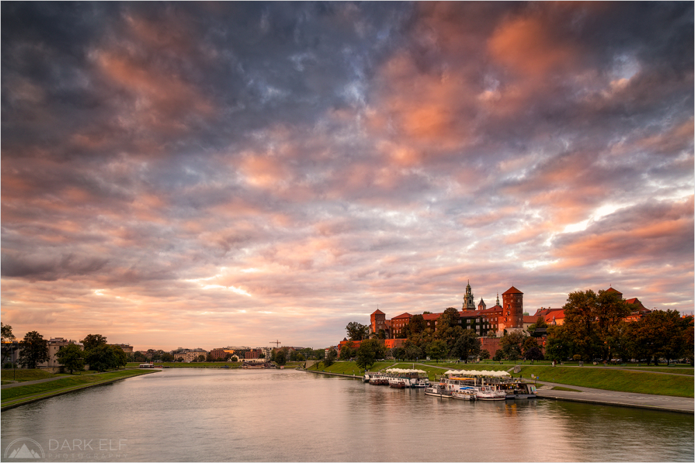 Sunset Over Wawel Castle