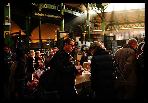 people at London Borough Market