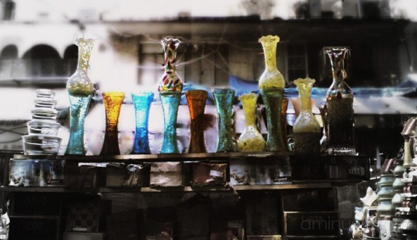 Coloured Glass Vases (Image 1)