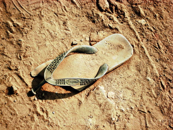Chappal in the sand