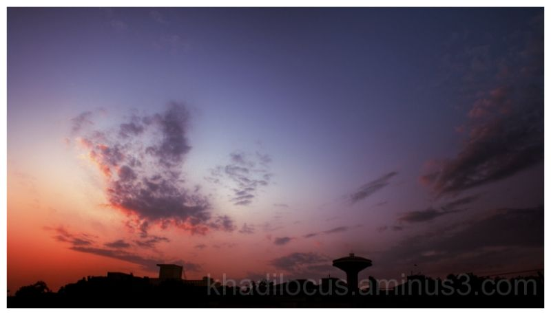 Midwestern sunset over Gurgaon