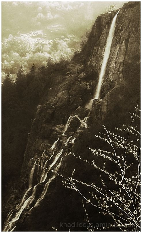Sepia Waterfall