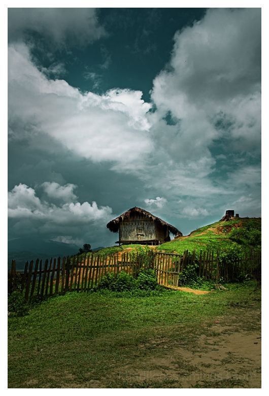 Hut on the Indo-Burmese border