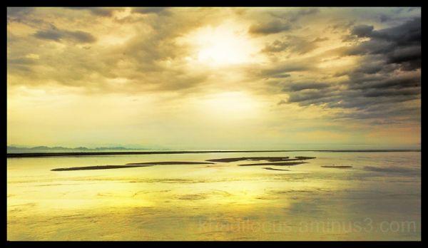 Cloudy Sunrise on the Brahmaputra