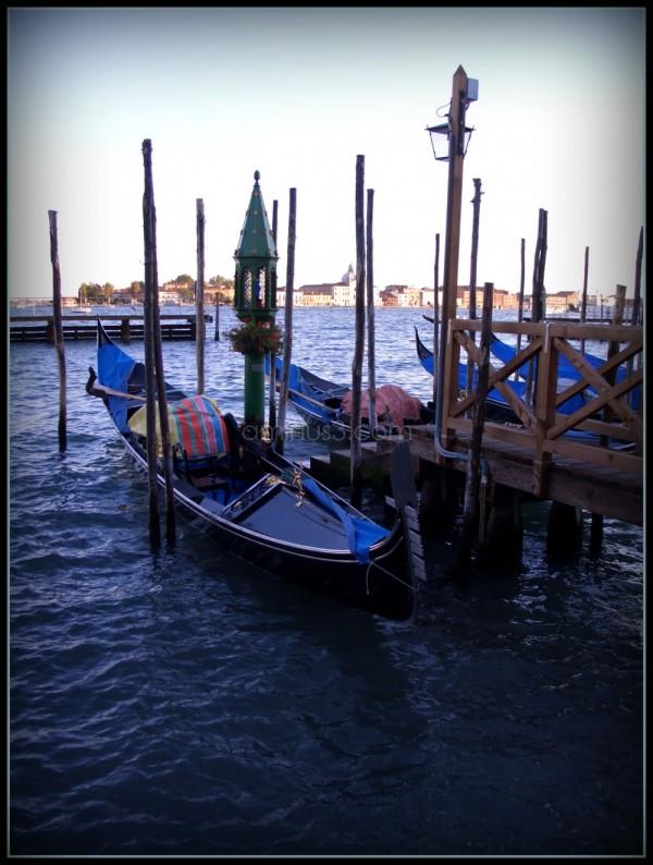 The lagoon of Venice with gondola