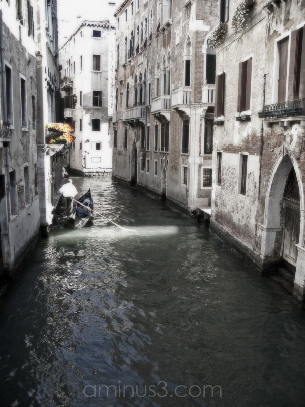 Canal view in Venice Italy