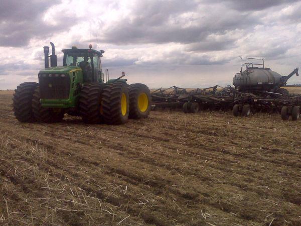 Spring seeding on the Canadian prairies