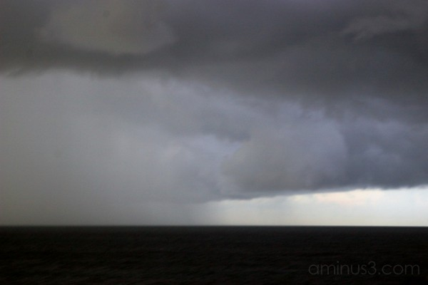 Rain clouds brewing by Aruba