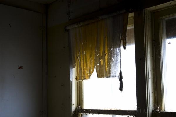 curtain, old house