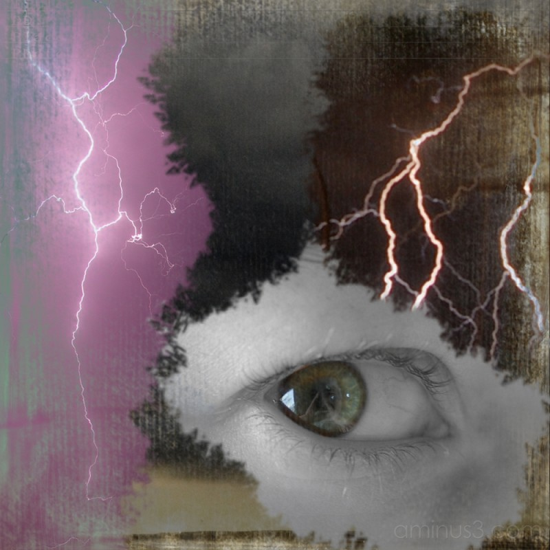 abstract storm lightening eye