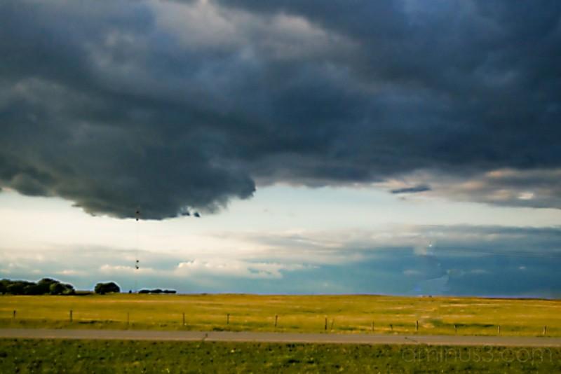 prairie grass storm clouds