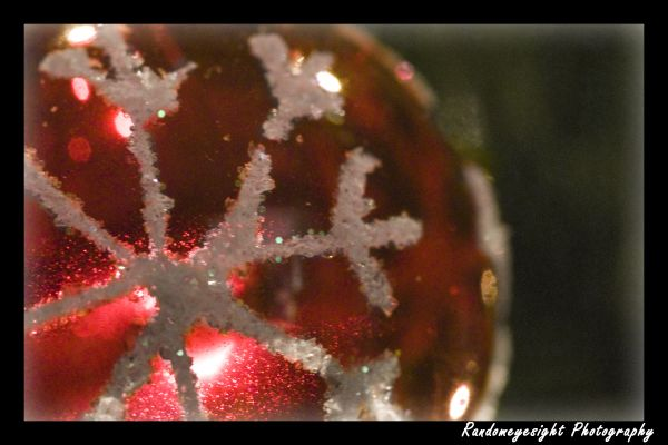 snowflake pink christmas ball