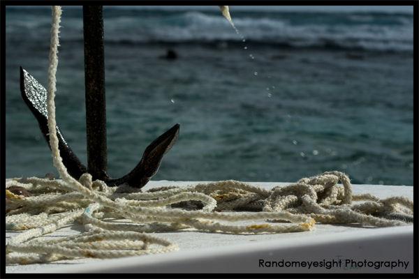 anchor belize boat ocean carribean