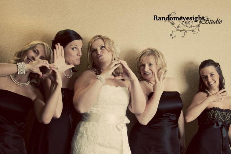 wedding bride bridesmaids love bridal party