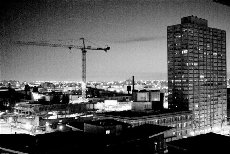 Construction Crane at Dusk