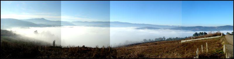 Debaixo do mar de néboa...