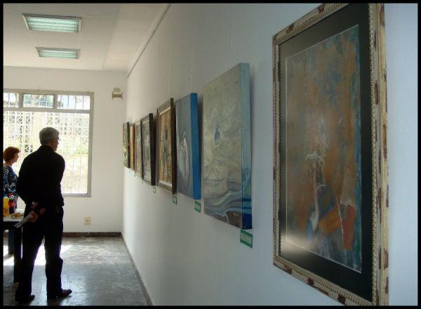 Inauguración da exposición de pintores do Ribeiro
