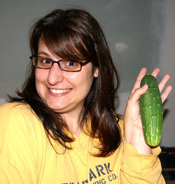 Her Very First Cucumber... Ever!