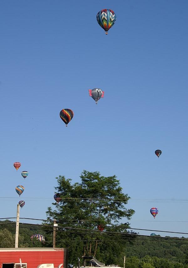 Elephant Balloon Heading Over the Mountain
