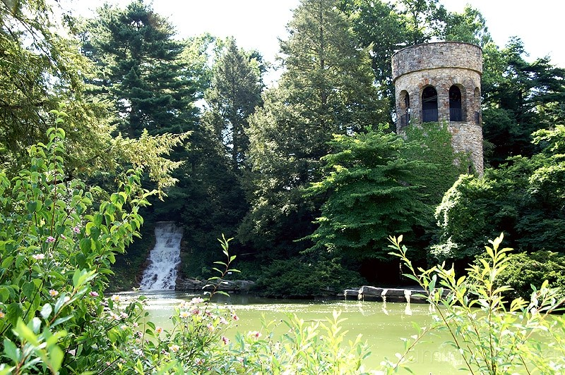Longwood Gardens Waterfall and Chimes Tower