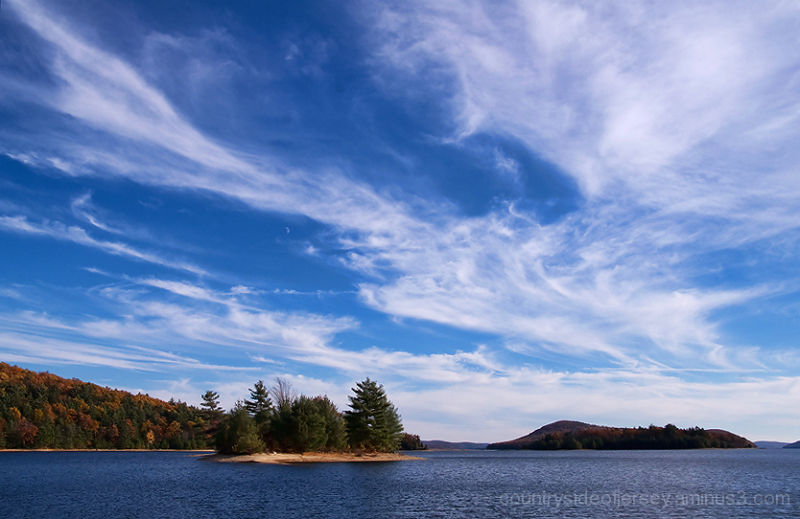 Quabbin Reservoir Big Sky and Moon